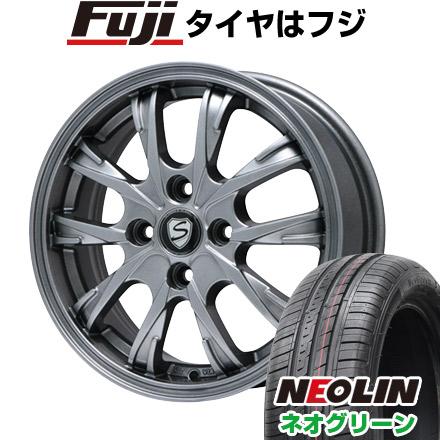 タイヤはフジ 送料無料 BRANDLE ブランドル 486 5.5J 5.50-15 NEOLIN ネオリン ネオグリーン(限定) 185/55R15 15インチ サマータイヤ ホイール4本セット