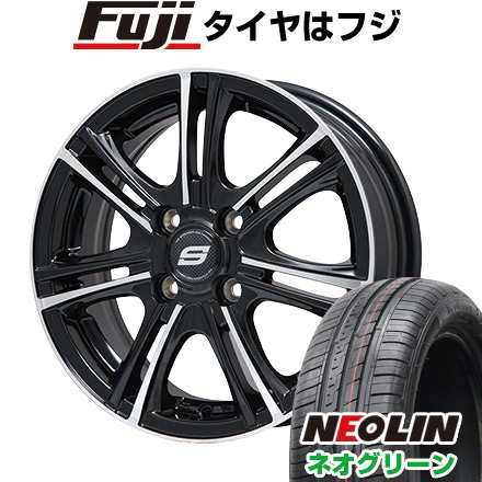 タイヤはフジ 送料無料 BRANDLE ブランドル M68BP 5.5J 5.50-15 NEOLIN ネオリン ネオグリーン(限定) 185/55R15 15インチ サマータイヤ ホイール4本セット