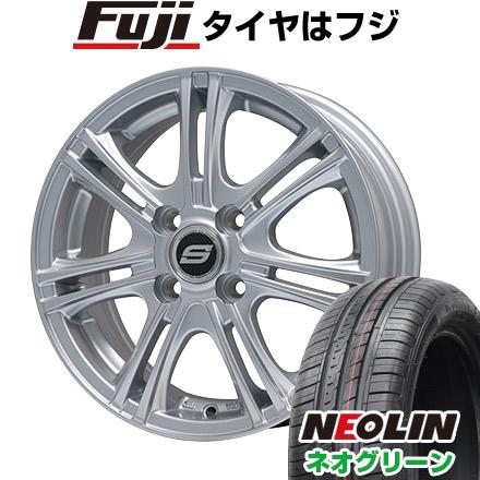 タイヤはフジ 送料無料 BRANDLE ブランドル M68 4.5J 4.50-14 NEOLIN ネオリン ネオグリーン(限定) 165/55R14 14インチ サマータイヤ ホイール4本セット