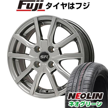タイヤはフジ 送料無料 BRANDLE ブランドル N52 5.5J 5.50-15 NEOLIN ネオリン ネオグリーン(限定) 185/55R15 15インチ サマータイヤ ホイール4本セット