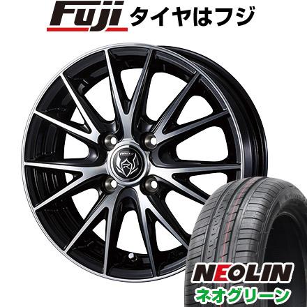 【送料無料】 175/65R14 14インチ WEDS ライツレー VS 5.5J 5.50-14 NEOLIN ネオリン ネオグリーン(限定) サマータイヤ ホイール4本セット