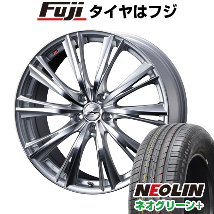 タイヤはフジ 送料無料 WEDS ウェッズ レオニス WX 6.5J 6.50-16 NEOLIN ネオリン ネオグリーン プラス(限定) 215/60R16 16インチ サマータイヤ ホイール4本セット