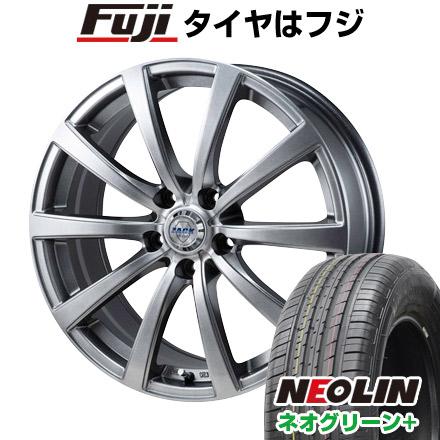 タイヤはフジ 送料無料 MONZA モンツァ ZACK JP-110 10スポーク 6.5J 6.50-16 NEOLIN ネオリン ネオグリーン プラス(限定) 205/55R16 16インチ サマータイヤ ホイール4本セット
