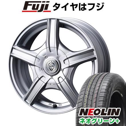 タイヤはフジ 送料無料 WEDS ウェッズ トレファー MH 6.5J 6.50-16 NEOLIN ネオリン ネオグリーン プラス(限定) 205/55R16 16インチ サマータイヤ ホイール4本セット