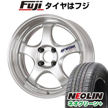 タイヤはフジ 送料無料 WORK ワーク マイスター S1R 6.5J 6.50-16 NEOLIN ネオリン ネオグリーン プラス(限定) 205/55R16 16インチ サマータイヤ ホイール4本セット