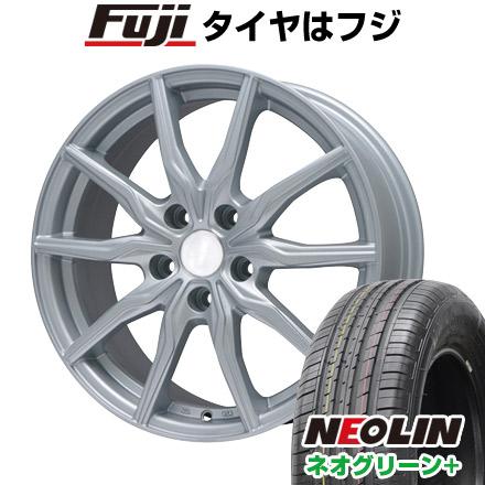 タイヤはフジ 送料無料 BRANDLE ブランドル 008 6.5J 6.50-16 NEOLIN ネオリン ネオグリーン プラス(限定) 205/55R16 16インチ サマータイヤ ホイール4本セット