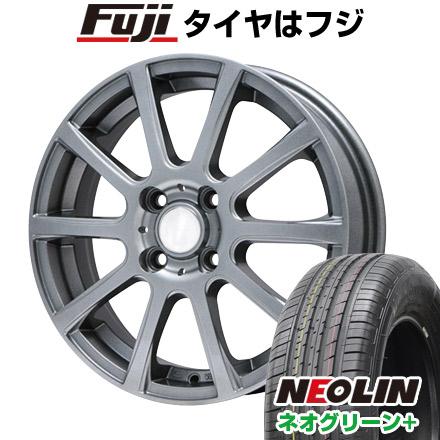 7/25はエントリーでポイント15倍 タイヤはフジ 送料無料 BRANDLE ブランドル 565T 5.5J 5.50-15 NEOLIN ネオリン ネオグリーン プラス(限定) 195/65R15 15インチ サマータイヤ ホイール4本セット