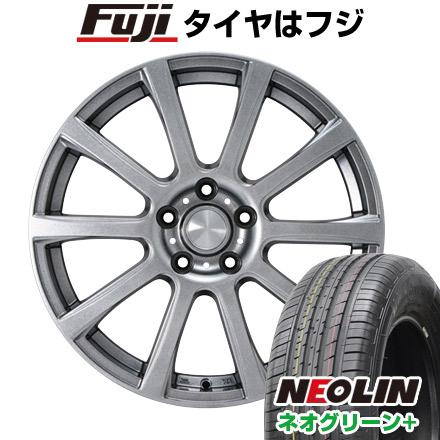 タイヤはフジ 送料無料 カジュアルセット タイプB17 メタリックグレー 6.5J 6.50-16 NEOLIN ネオリン ネオグリーン プラス(限定) 205/55R16 16インチ サマータイヤ ホイール4本セット