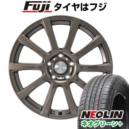 タイヤはフジ 送料無料 カジュアルセット タイプB17 ブロンズ 6.5J 6.50-16 NEOLIN ネオリン ネオグリーン プラス(限定) 205/55R16 16インチ サマータイヤ ホイール4本セット