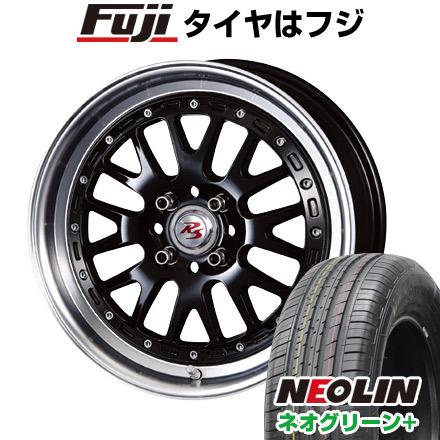 タイヤはフジ 送料無料 CRIMSON クリムソン RS WP MAXIモノブロック 6J 6.00-16 NEOLIN ネオリン ネオグリーン プラス(限定) 195/55R16 16インチ サマータイヤ ホイール4本セット