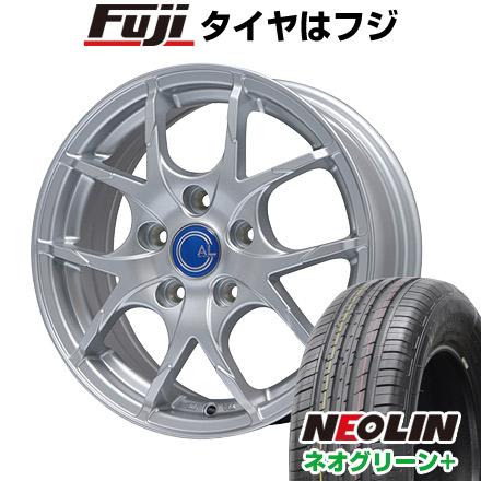 タイヤはフジ 送料無料 プリウス50系専用 BRANDLE ブランドル M69 トヨタ車専用(平座ナット仕様) 6.5J 6.50-15 NEOLIN ネオリン ネオグリーン プラス(限定) 195/65R15 15インチ サマータイヤ ホイール4本セット