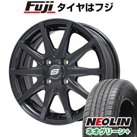 タイヤはフジ 送料無料 BRANDLE ブランドル M71B 6.5J 6.50-16 NEOLIN ネオリン ネオグリーン プラス(限定) 205/55R16 16インチ サマータイヤ ホイール4本セット