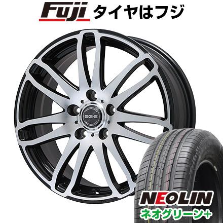 タイヤはフジ 送料無料 BRANDLE ブランドル G72B 6J 6.00-15 NEOLIN ネオリン ネオグリーン プラス(限定) 195/65R15 15インチ サマータイヤ ホイール4本セット