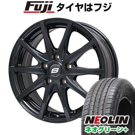 タイヤはフジ 送料無料 BRANDLE ブランドル M71B 6J 6.00-15 NEOLIN ネオリン ネオグリーン プラス(限定) 195/65R15 15インチ サマータイヤ ホイール4本セット