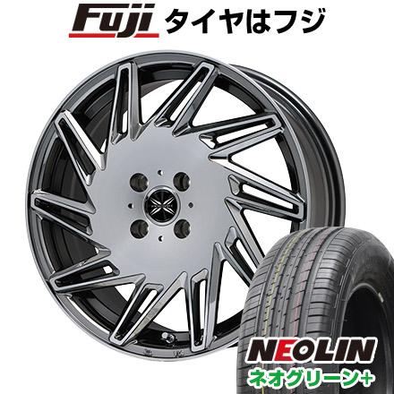 タイヤはフジ 送料無料 PREMIX プレミックス バリック BMCポリッシュ限定 6.5J 6.50-17 NEOLIN ネオリン ネオグリーン プラス(限定) 205/40R17 17インチ サマータイヤ ホイール4本セット