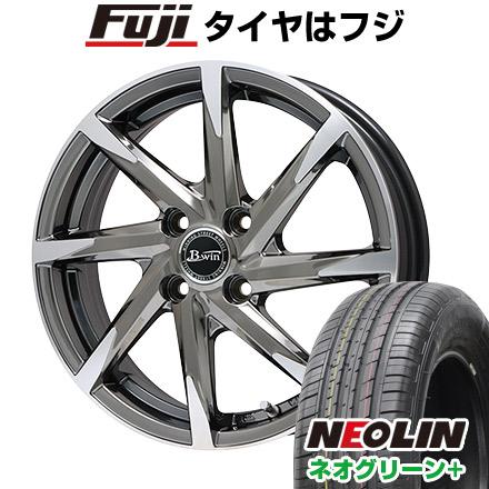 タイヤはフジ 送料無料 BIGWAY ビッグウエイ B-WIN ゼナート 8(SBCポリッシュ) 6.5J 6.50-16 NEOLIN ネオリン ネオグリーン プラス(限定) 215/60R16 16インチ サマータイヤ ホイール4本セット