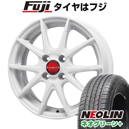 タイヤはフジ 送料無料 BIGWAY ビッグウエイ LEYBAHN WGS 5.5J 5.50-15 NEOLIN ネオリン ネオグリーン プラス(限定) 195/65R15 15インチ サマータイヤ ホイール4本セット