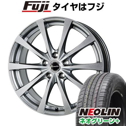 タイヤはフジ 送料無料 HOT STUFF ホットスタッフ エクシーダー E03 6.5J 6.50-16 NEOLIN ネオリン ネオグリーン プラス(限定) 215/60R16 16インチ サマータイヤ ホイール4本セット