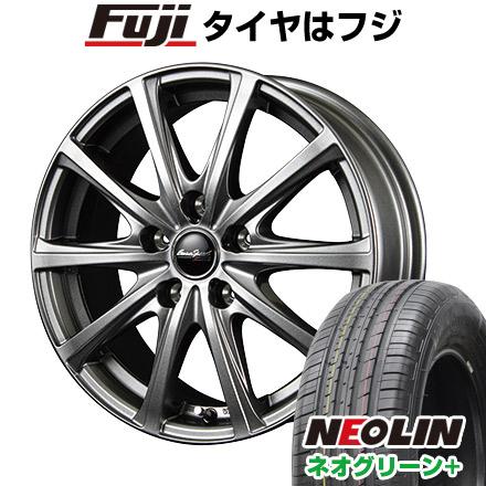 タイヤはフジ 送料無料 MID ユーロスピード V25 6J 6.00-15 NEOLIN ネオリン ネオグリーン プラス(限定) 195/65R15 15インチ サマータイヤ ホイール4本セット