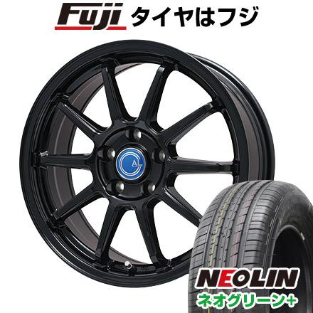 タイヤはフジ 送料無料 BRANDLE-LINE ブランドルライン カルッシャー ブラック 6.5J 6.50-16 NEOLIN ネオリン ネオグリーン プラス(限定) 205/55R16 16インチ サマータイヤ ホイール4本セット