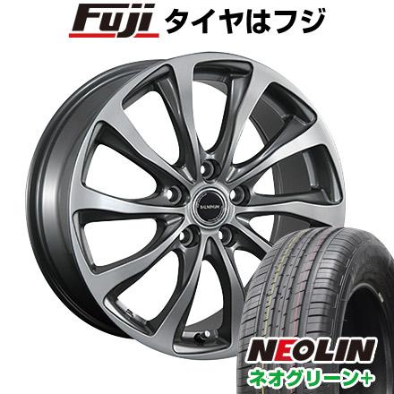 タイヤはフジ 送料無料 BRIDGESTONE ブリヂストン バルミナ TR10 6.5J 6.50-16 NEOLIN ネオリン ネオグリーン プラス(限定) 215/60R16 16インチ サマータイヤ ホイール4本セット