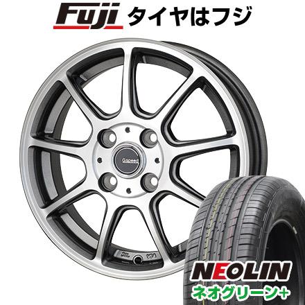 タイヤはフジ 送料無料 HOT STUFF ホットスタッフ ジースピード P-01 6J 6.00-16 NEOLIN ネオリン ネオグリーン プラス(限定) 205/45R16 16インチ サマータイヤ ホイール4本セット