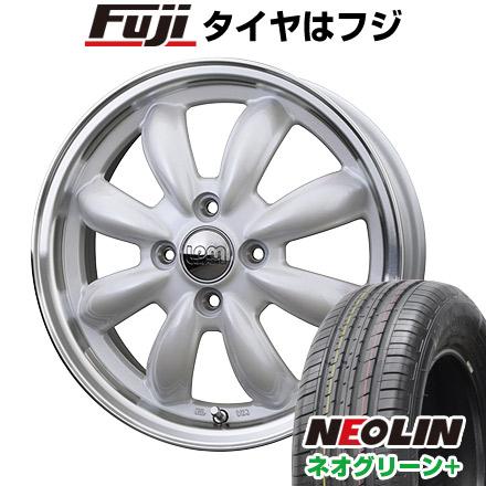 タイヤはフジ 送料無料 HOT STUFF ホットスタッフ ララパーム カップ 6J 6.00-16 NEOLIN ネオリン ネオグリーン プラス(限定) 195/55R16 16インチ サマータイヤ ホイール4本セット