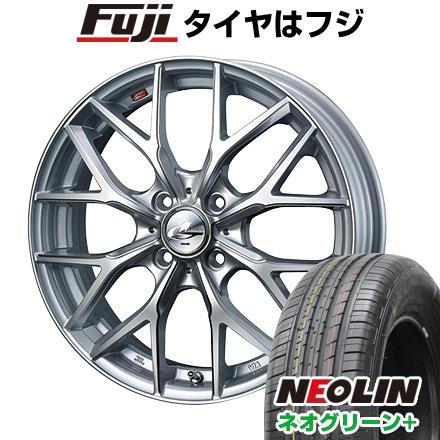 サマータイヤ レオニス プラス(限定) 6.50-17 17インチ ウェッズ ネオグリーン ネオリン 205/40R17 ホイール4本セット 6.5J NEOLIN WEDS タイヤはフジ 送料無料 MX