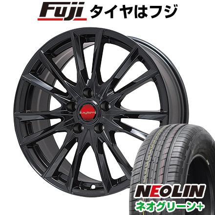 タイヤはフジ 送料無料 BIGWAY ビッグウエイ LEYBAHN GBX 6.5J 6.50-16 NEOLIN ネオリン ネオグリーン プラス(限定) 205/55R16 16インチ サマータイヤ ホイール4本セット