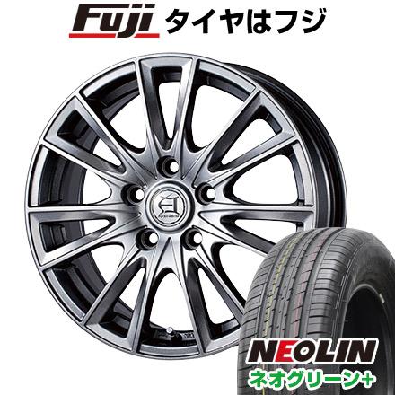 タイヤはフジ 送料無料 TECHNOPIA テクノピア アフロディーテ EF 6.5J 6.50-16 NEOLIN ネオリン ネオグリーン プラス(限定) 205/55R16 16インチ サマータイヤ ホイール4本セット