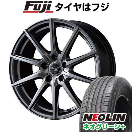 タイヤはフジ 送料無料 MID ユーロストリーム JL10 6J 6.00-15 NEOLIN ネオリン ネオグリーン プラス(限定) 195/65R15 15インチ サマータイヤ ホイール4本セット