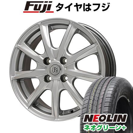 タイヤはフジ 送料無料 BRANDLE ブランドル E05 6J 6.00-15 NEOLIN ネオリン ネオグリーン プラス(限定) 195/65R15 15インチ サマータイヤ ホイール4本セット