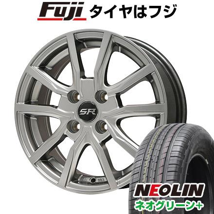 タイヤはフジ 送料無料 BRANDLE ブランドル N52 6J 6.00-15 NEOLIN ネオリン ネオグリーン プラス(限定) 195/65R15 15インチ サマータイヤ ホイール4本セット