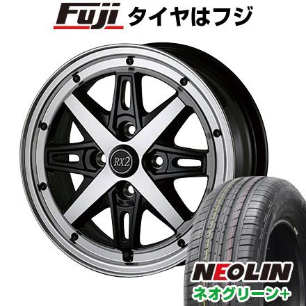 タイヤはフジ 送料無料 ALGERNON アルジェノン フェニーチェ RX-2 6J 6.00-15 NEOLIN ネオリン ネオグリーン プラス(限定) 195/65R15 15インチ サマータイヤ ホイール4本セット