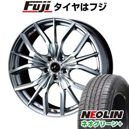 タイヤはフジ 送料無料 WEDS ウェッズ レオニス LV限定 6.5J 6.50-17 NEOLIN ネオリン ネオグリーン プラス(限定) 205/40R17 17インチ サマータイヤ ホイール4本セット