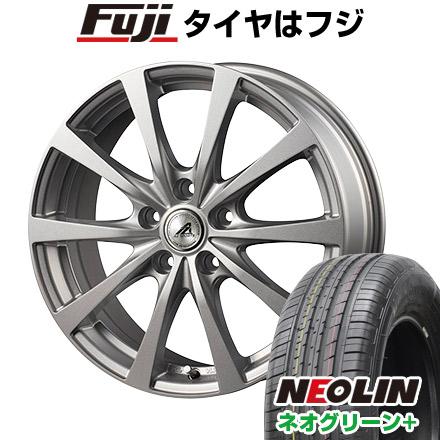 タイヤはフジ 送料無料 INTER MILANO インターミラノ AZ-SPORTS EX-10 6J 6.00-15 NEOLIN ネオリン ネオグリーン プラス(限定) 195/65R15 15インチ サマータイヤ ホイール4本セット