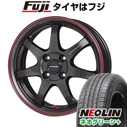 タイヤはフジ 送料無料 HOT STUFF ホットスタッフ クロススピード ハイパーエディションCR-7 6J 6.00-16 NEOLIN ネオリン ネオグリーン プラス(限定) 205/45R16 16インチ サマータイヤ ホイール4本セット