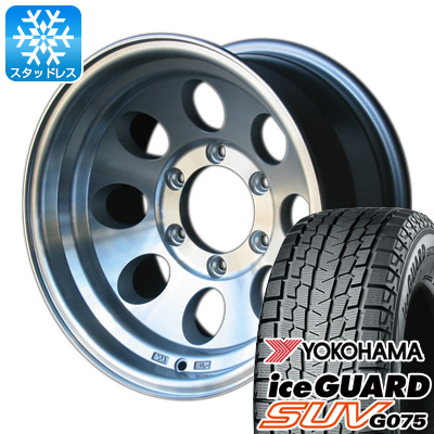 【送料無料】 YOKOHAMA ヨコハマ アイスガード SUV G075 315/75R16 16インチ スタッドレスタイヤ ホイール4本セット CAN ジムライン タイプ2 8J 8.00-16 フジコーポレーション