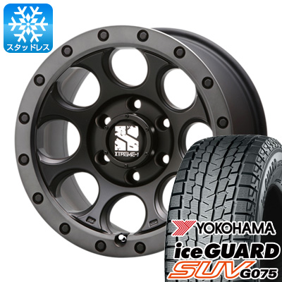 【送料無料】 YOKOHAMA ヨコハマ アイスガード SUV G075 265/70R17 17インチ スタッドレスタイヤ ホイール4本セット MLJ エクストリームJ XJ03 8J 8.00-17 フジコーポレーション