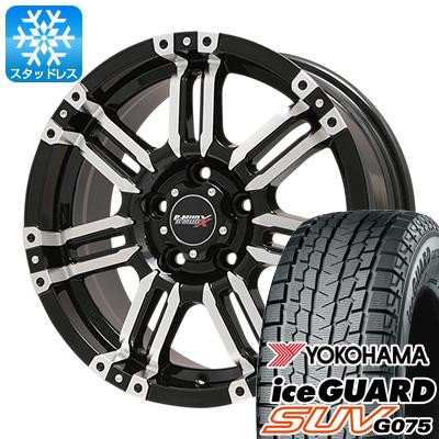 【送料無料 5穴/100 XV(GT系対応)】 YOKOHAMA ヨコハマ アイスガード SUV G075 225/60R17 17インチ スタッドレスタイヤ ホイール4本セット BIGWAY B-MUD X(ブラックポリッシュ) 7J 7.00-17