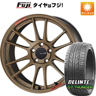 【送料無料】 235/40R18 18インチ ENKEI エンケイ GTC01 RR チタニウムゴールド 8.5J 8.50-18 DELINTE デリンテ D7 サンダー(限定) サマータイヤ ホイール4本セット