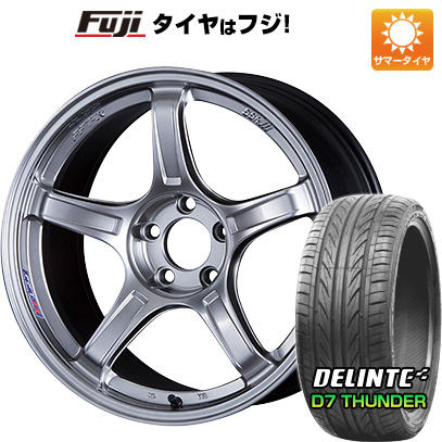 【送料無料】 235/40R18 18インチ SSR GTX03 8J 8.00-18 DELINTE デリンテ D7 サンダー(限定) サマータイヤ ホイール4本セット