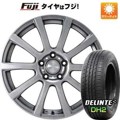 【送料無料】 215/65R16 16インチ カジュアルセット タイプB17 メタリックグレー 6.5J 6.50-16 DELINTE デリンテ DH2(限定) サマータイヤ ホイール4本セット