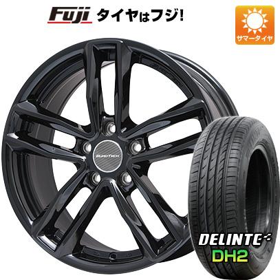 【送料無料 ボルボ(V60クロスカントリー)】 215/65R16 16インチ EUROTECH ユーロテック ガヤ5(グロスブラック) 6.5J 6.50-16 DELINTE デリンテ DH2(限定) サマータイヤ ホイール4本セット 輸入車
