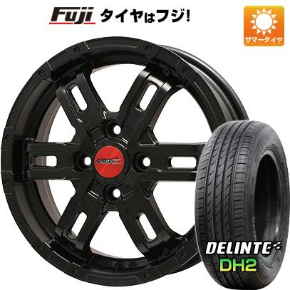 送料無料 165 50R15 15インチ DELINTE デリンテ DH2 限定 サマータイヤ 取付対象 マーケティング BIGWAY Z B-MUD ホイール4本セット 4.50-15 4.5J マットブラック 高品質 ビッグウエイ