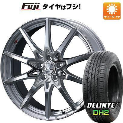 【送料無料】 235/45R18 18インチ WEDS ウェッズ レオニス SV 8J 8.00-18 DELINTE デリンテ DH2(限定) サマータイヤ ホイール4本セット