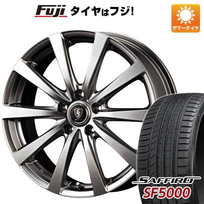 【送料無料】 225/55R18 18インチ MID ユーロスピード G10 7J 7.00-18 SAFFIRO サフィーロ SF5000(限定) サマータイヤ ホイール4本セット