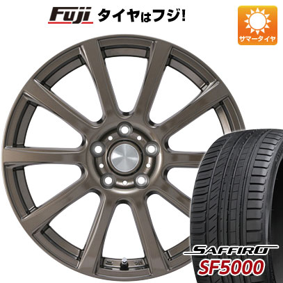 【送料無料】 225/45R18 18インチ カジュアルセット タイプB17 ブロンズ 7.5J 7.50-18 SAFFIRO サフィーロ SF5000(限定) サマータイヤ ホイール4本セット