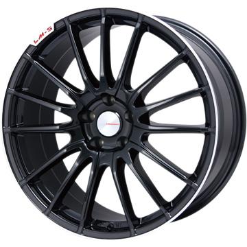 【送料無料】 215/45R18 18インチ LEHRMEISTER LM-S トレント15 (ブラック/リムポリッシュ) 7.5J 7.50-18 PIRELLI ピレリ ドラゴンスポーツ サマータイヤ ホイール4本セット