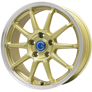 【送料無料】 215/35R18 18インチ BRANDLE-LINE ブランドルライン カルッシャー ゴールド/リムポリッシュ 7.5J 7.50-18 SAFFIRO サフィーロ SF5001(限定) サマータイヤ ホイール4本セット